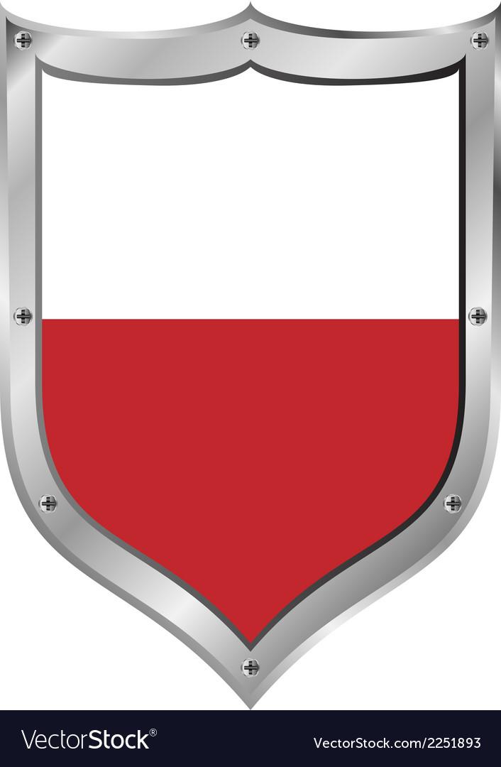 Poland flag button vector   Price: 1 Credit (USD $1)