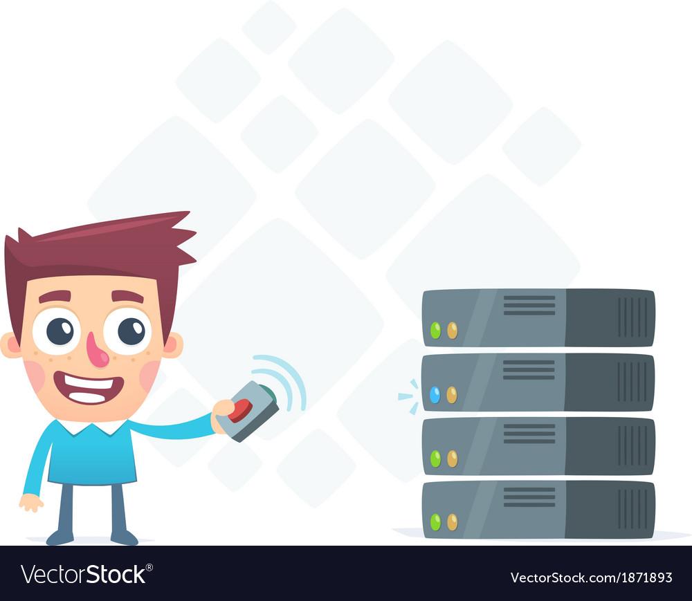 Remote monitoring server vector | Price: 1 Credit (USD $1)