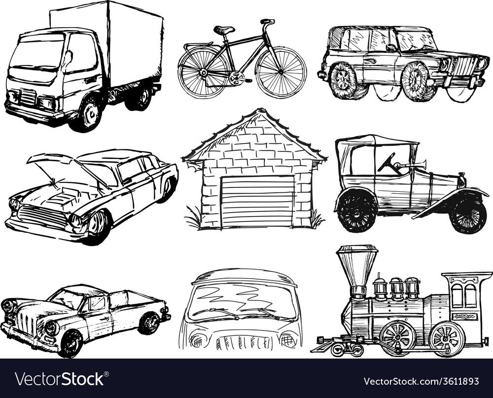 Set of transportation vector | Price: 1 Credit (USD $1)