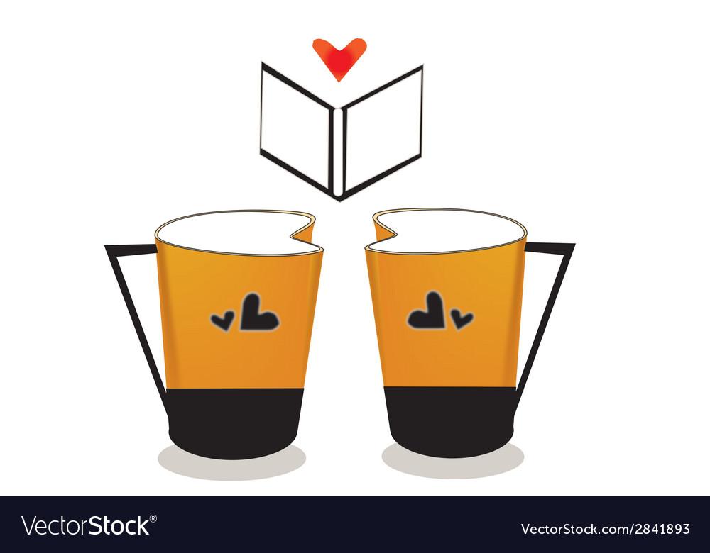 V coffee cup vector | Price: 1 Credit (USD $1)