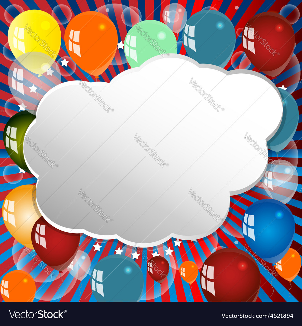 Balloon celebration group event festival colour fu vector | Price: 1 Credit (USD $1)