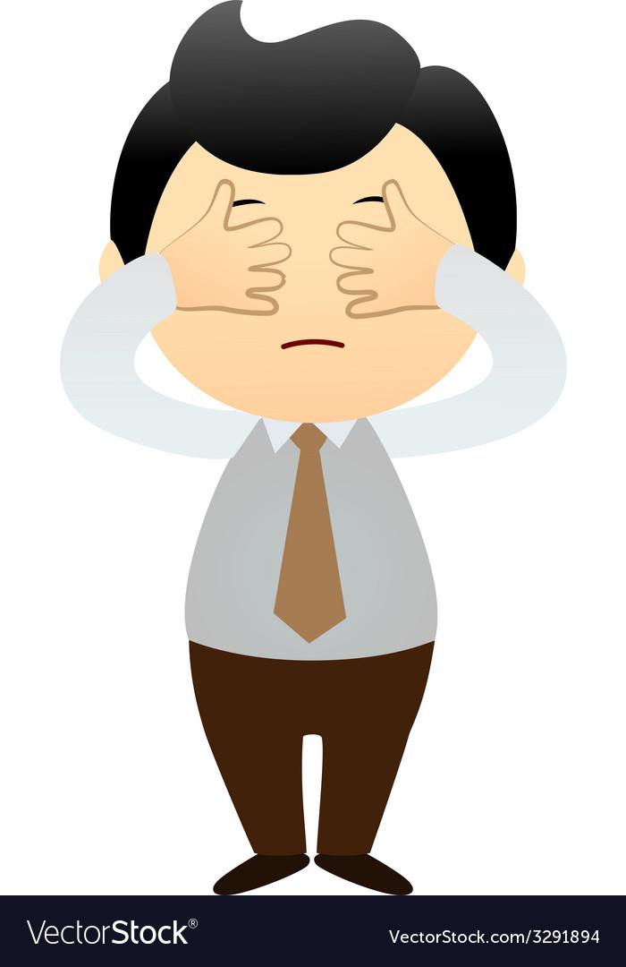 Cartoon business man vector | Price: 1 Credit (USD $1)