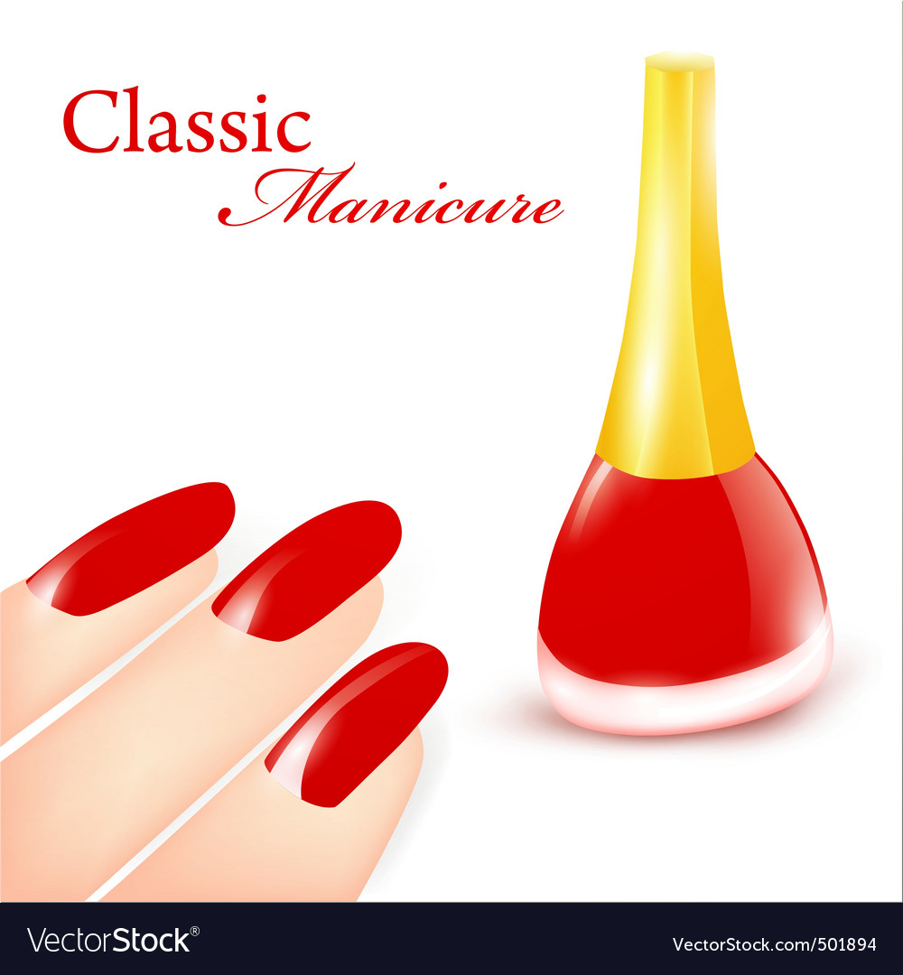 Classic manicure vector | Price: 1 Credit (USD $1)