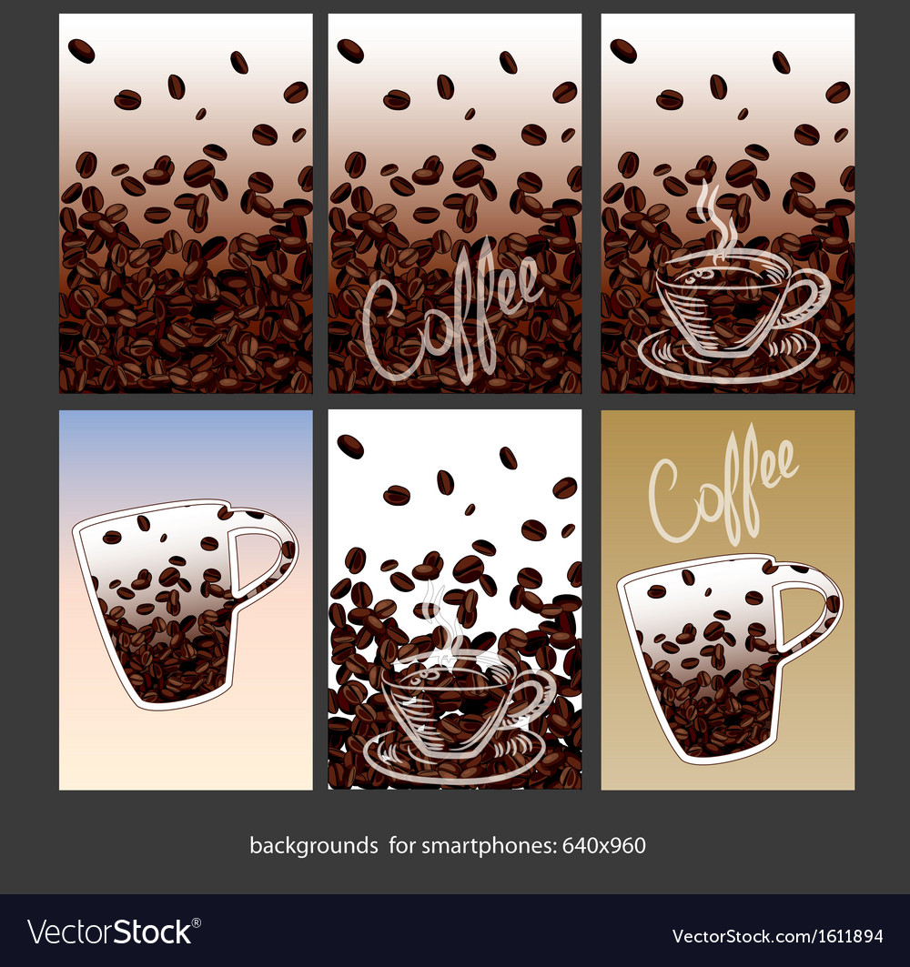 Coffee smartphone backgrounds vector | Price: 1 Credit (USD $1)