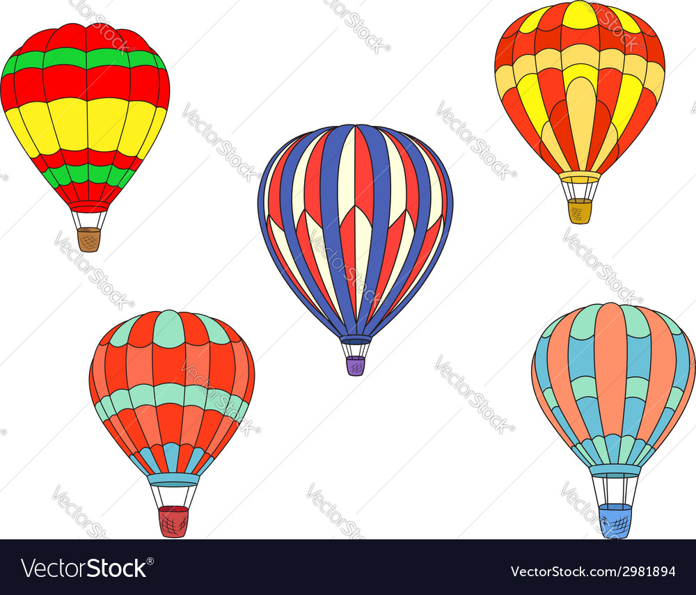 Colorful air balloons vector | Price: 1 Credit (USD $1)