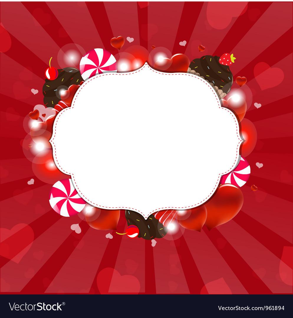 Dessert frame vector | Price: 1 Credit (USD $1)