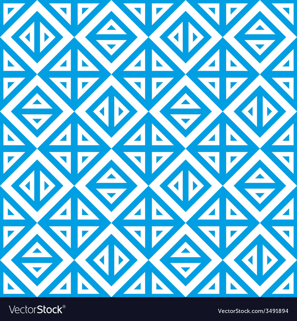 Geometric abstract blue white pattern seamless vector | Price: 1 Credit (USD $1)