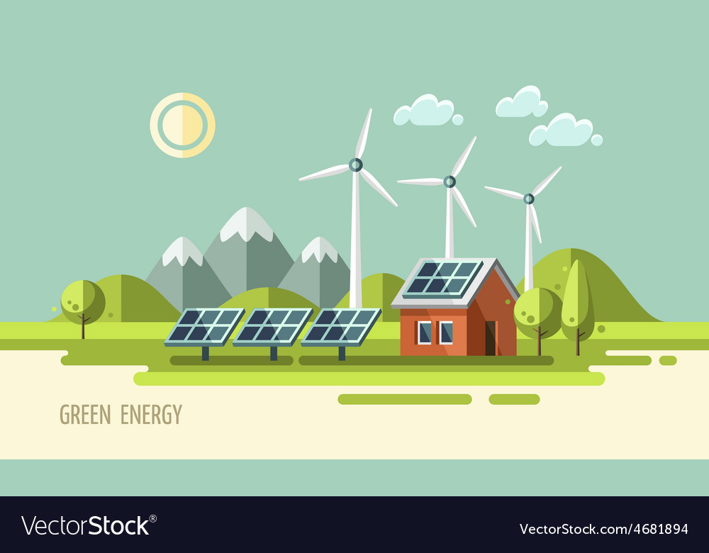 Green energy ecology environment vector | Price: 1 Credit (USD $1)