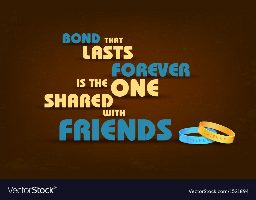 Happy friendship day greetings vector | Price: 1 Credit (USD $1)