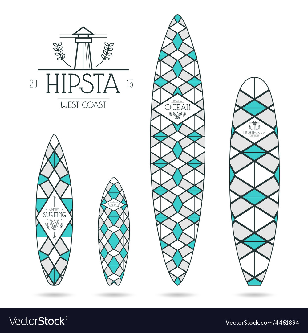 Hipster print for surfboards vector | Price: 1 Credit (USD $1)