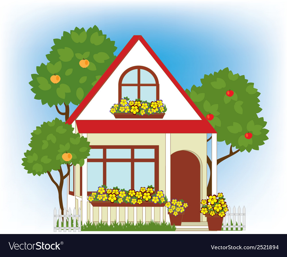 Home and garden vector | Price: 1 Credit (USD $1)