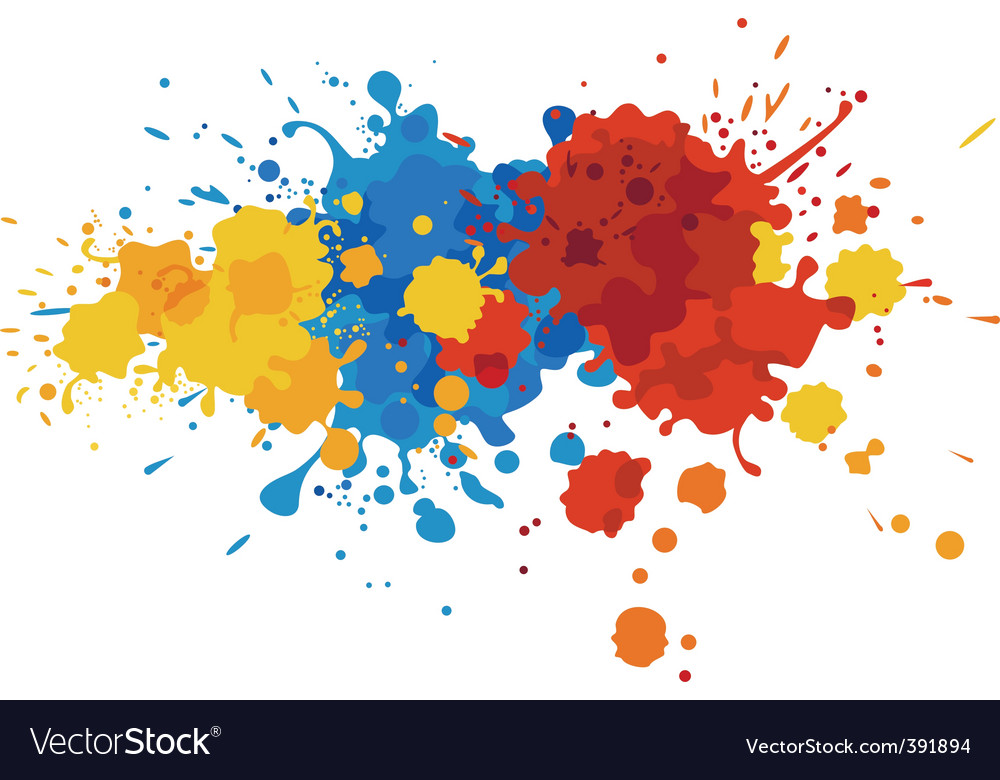 Paint stains vector | Price: 1 Credit (USD $1)