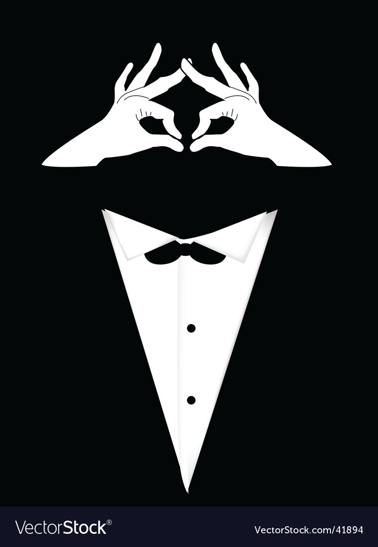 Person in tailcoat vector | Price: 1 Credit (USD $1)