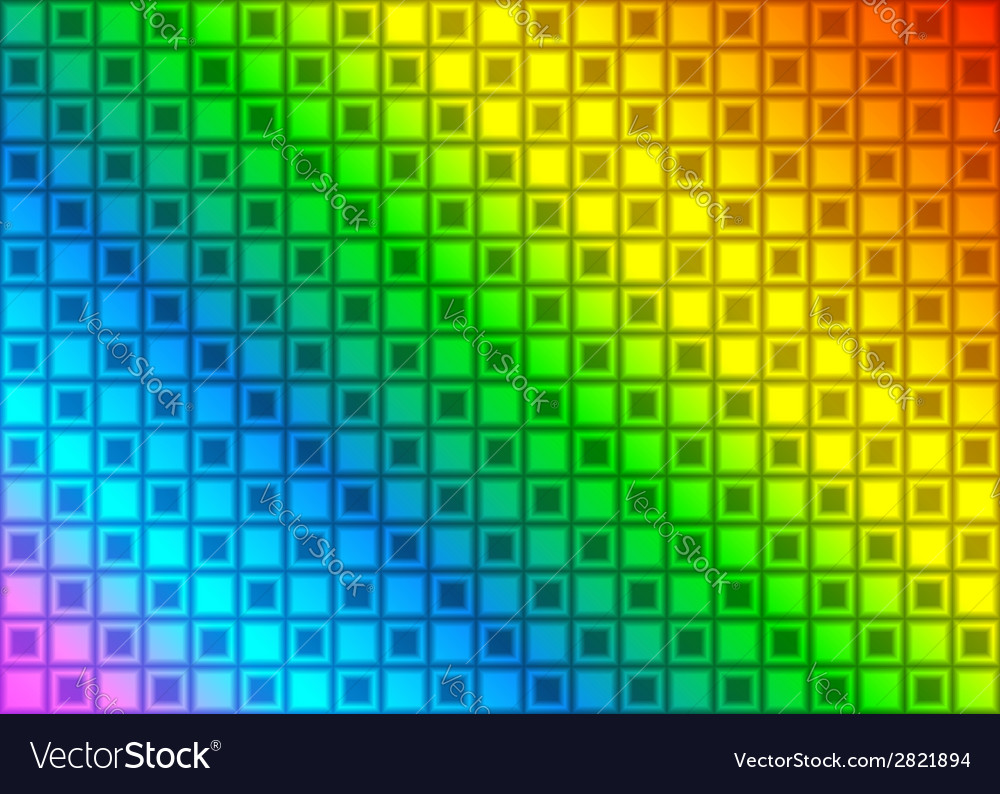Rainbow rectangle abstract background vector | Price: 1 Credit (USD $1)