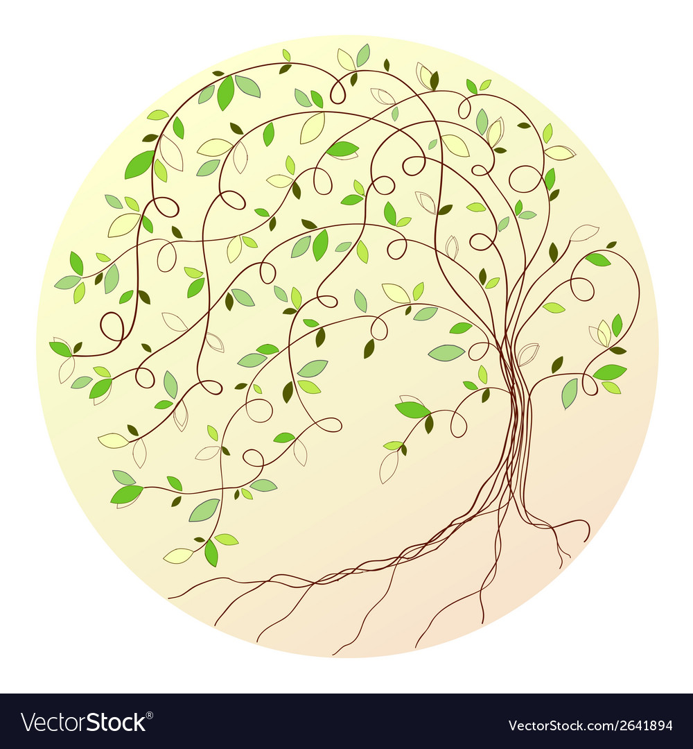 Stylized green tree vector | Price: 1 Credit (USD $1)