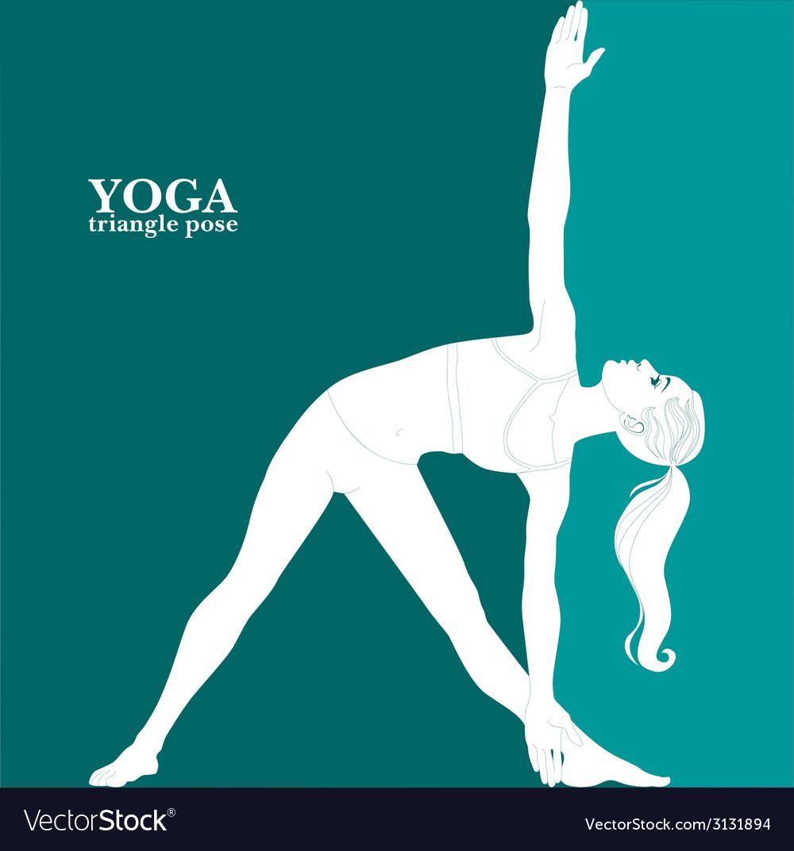 Yoga triangle pose vector | Price: 1 Credit (USD $1)