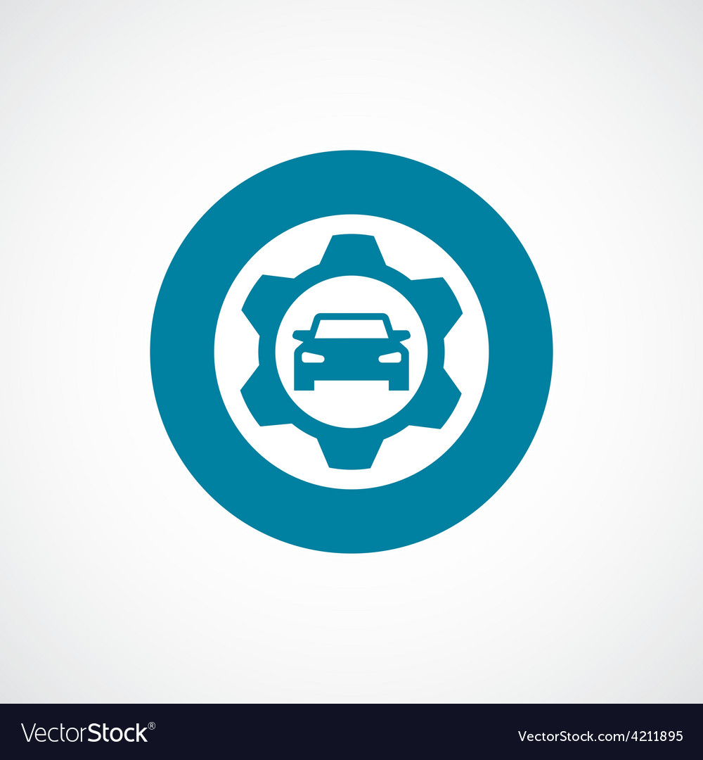 Auto service icon bold blue circle border vector | Price: 1 Credit (USD $1)