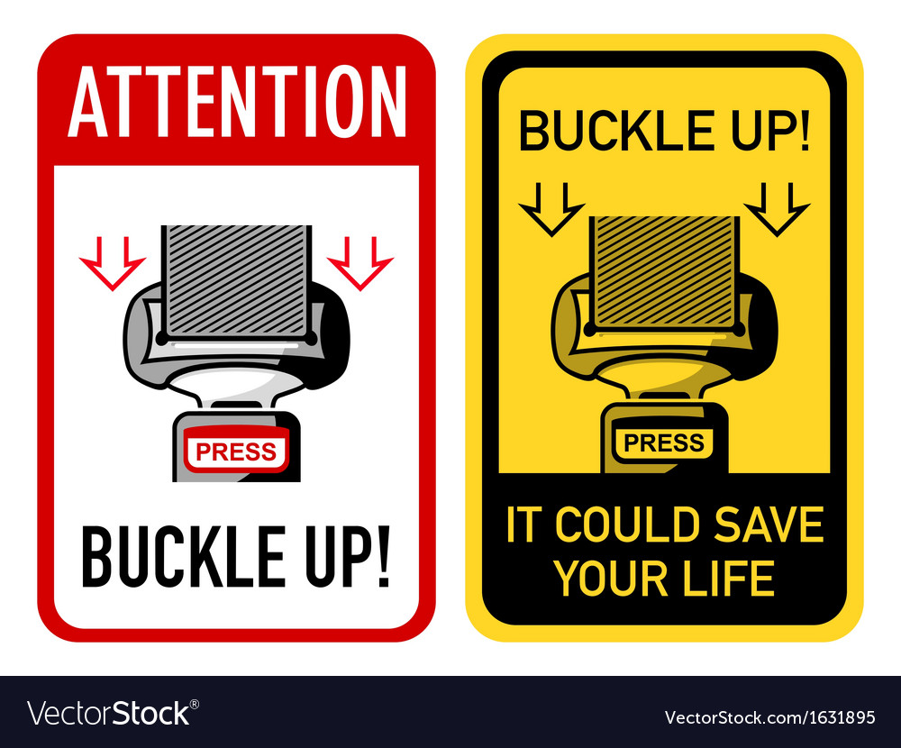 Buckle up signs vector | Price: 1 Credit (USD $1)