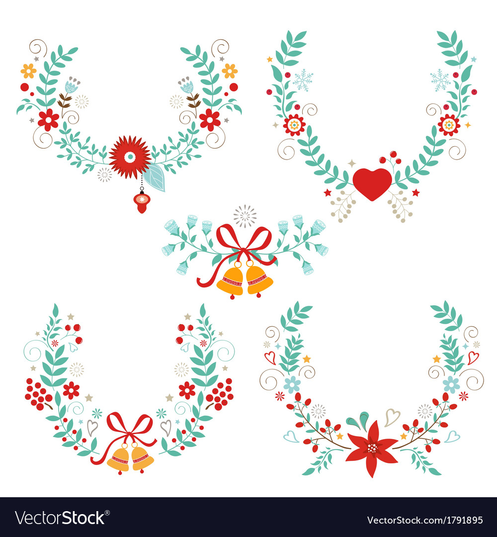 Christmas laurels vector | Price: 1 Credit (USD $1)