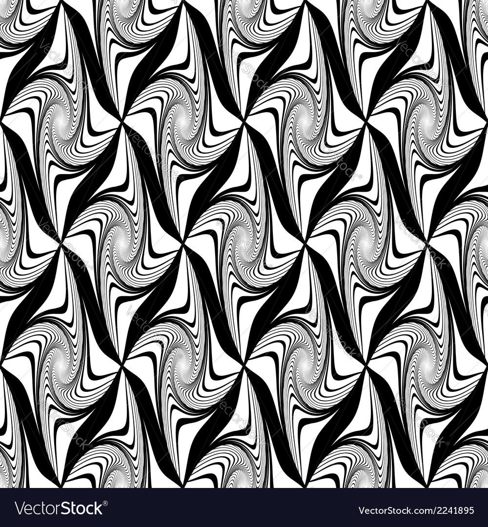Design seamless monochrome decorative pattern vector | Price: 1 Credit (USD $1)