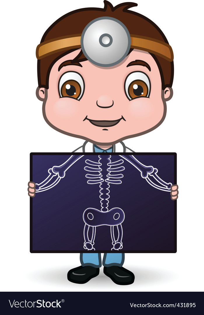 Doctor holding x-ray vector | Price: 1 Credit (USD $1)