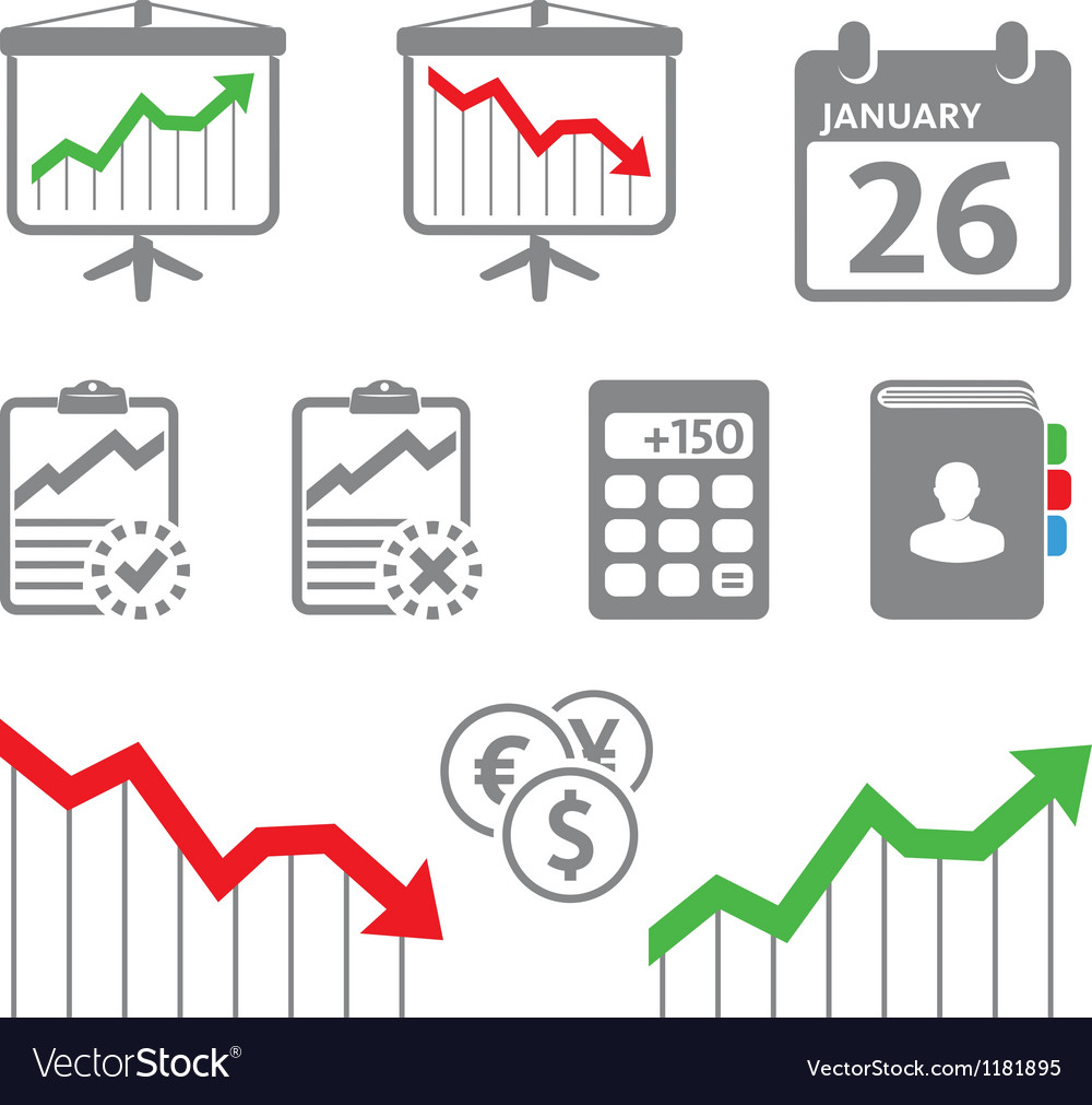 Economic icons vector | Price: 1 Credit (USD $1)