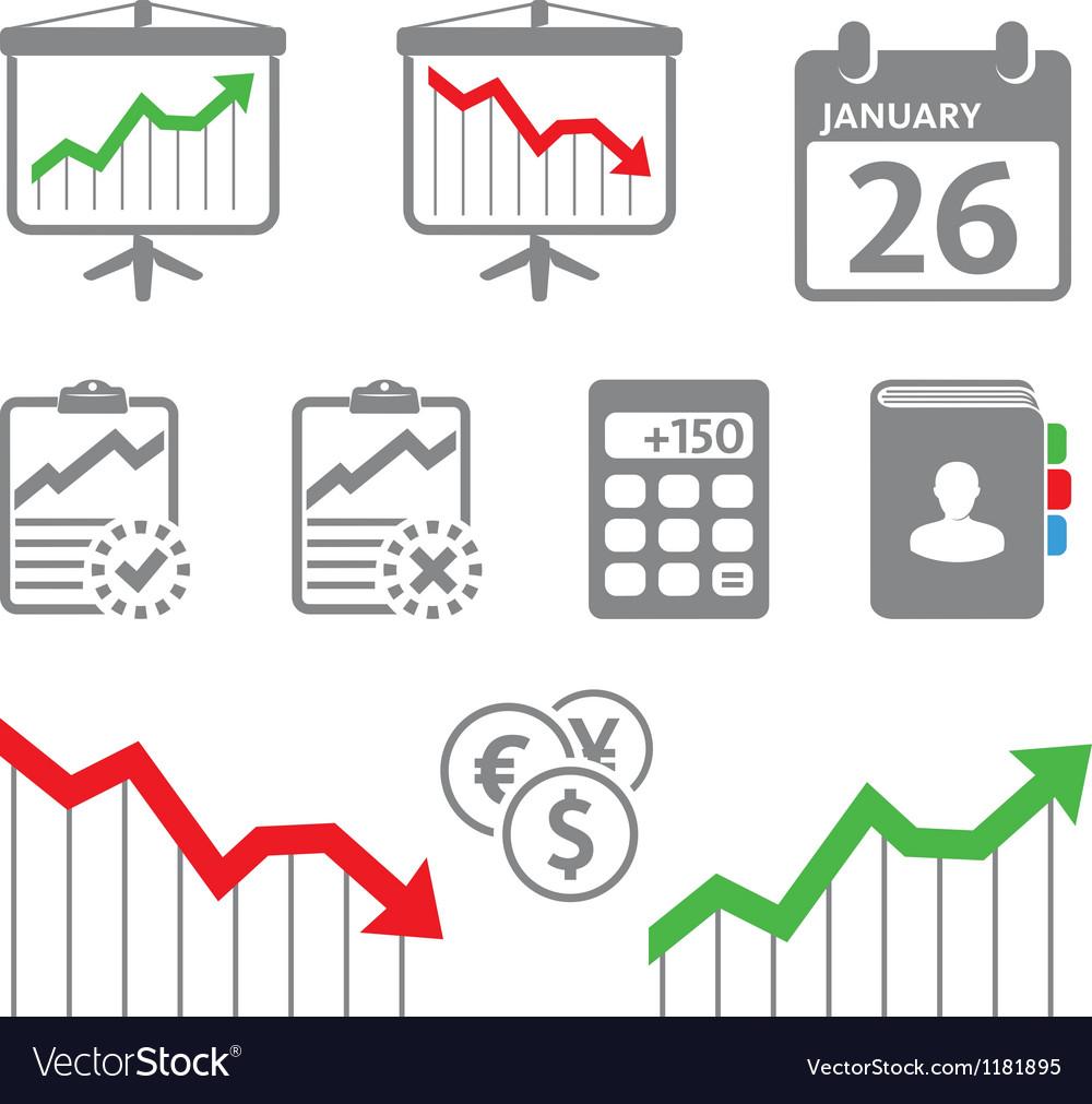 Economic icons vector | Price: 1 Credit (USD $1)