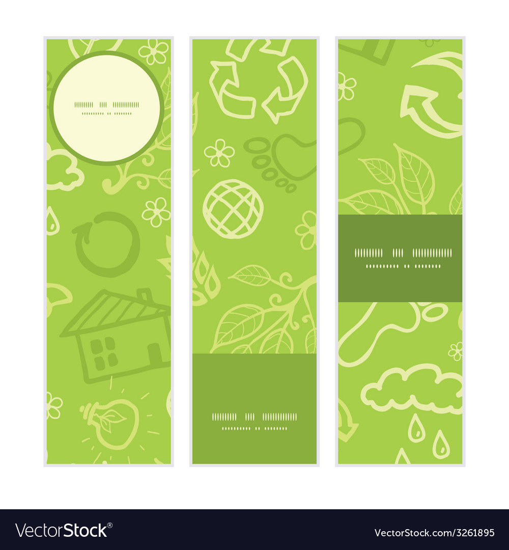 Environmental vertical banners set pattern vector | Price: 1 Credit (USD $1)