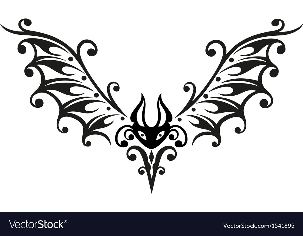 Halloween bat tribal vector | Price: 1 Credit (USD $1)