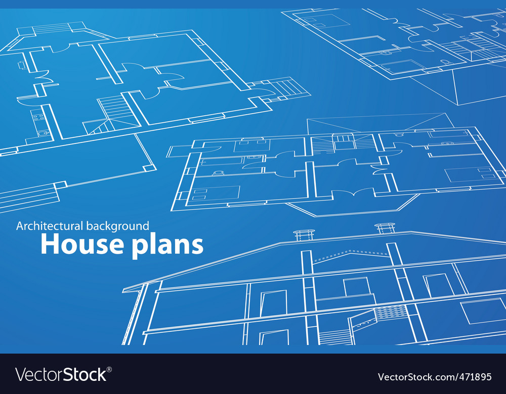 House plans vector | Price: 1 Credit (USD $1)