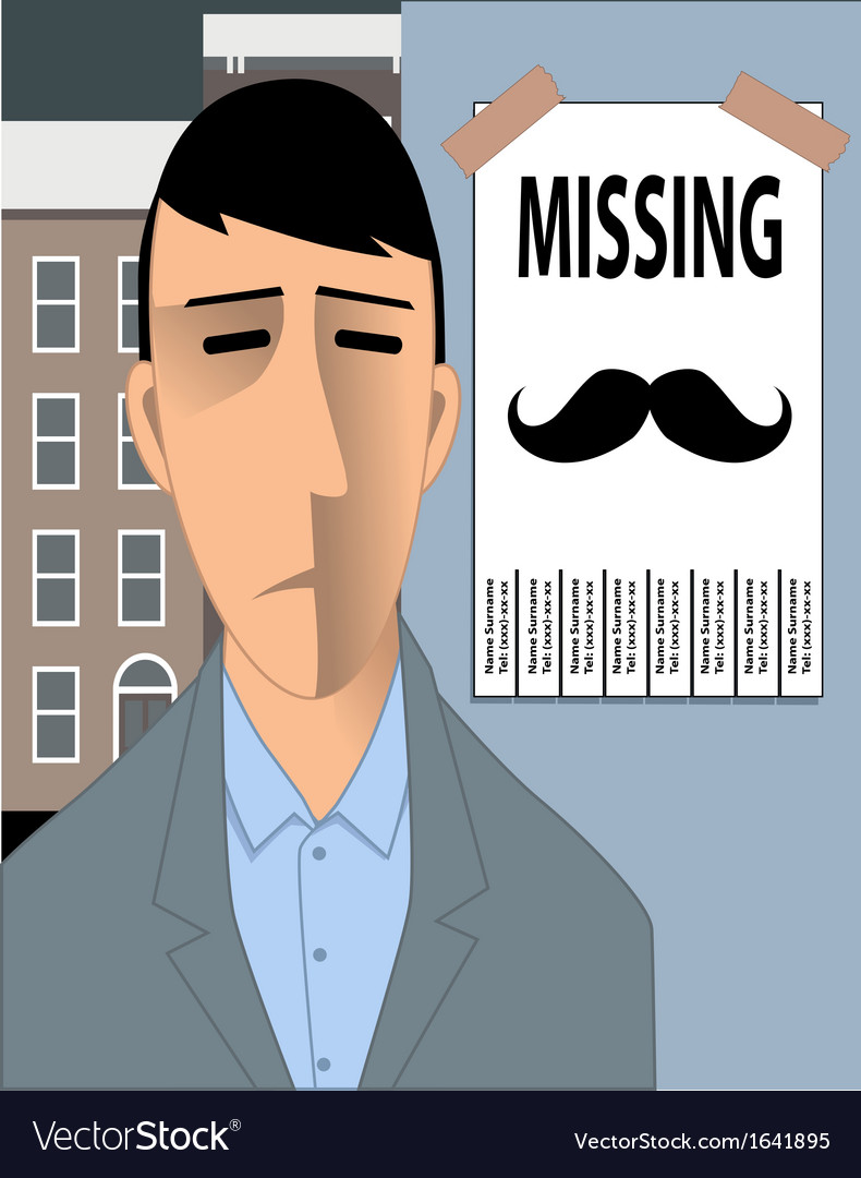 Missing movember mustache vector | Price: 1 Credit (USD $1)