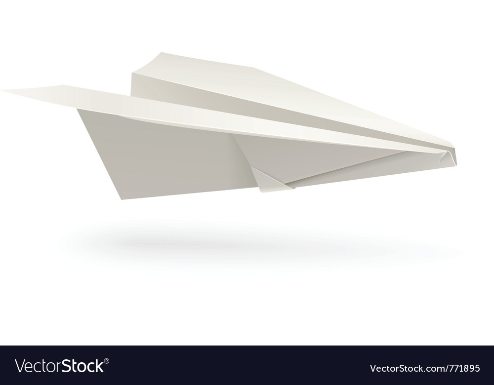 Paper airplane origami vector | Price: 3 Credit (USD $3)