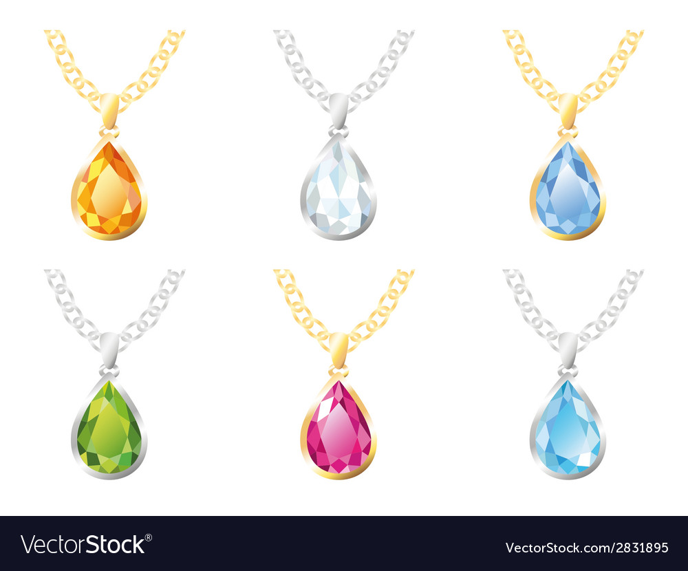 Six pendants vector | Price: 1 Credit (USD $1)