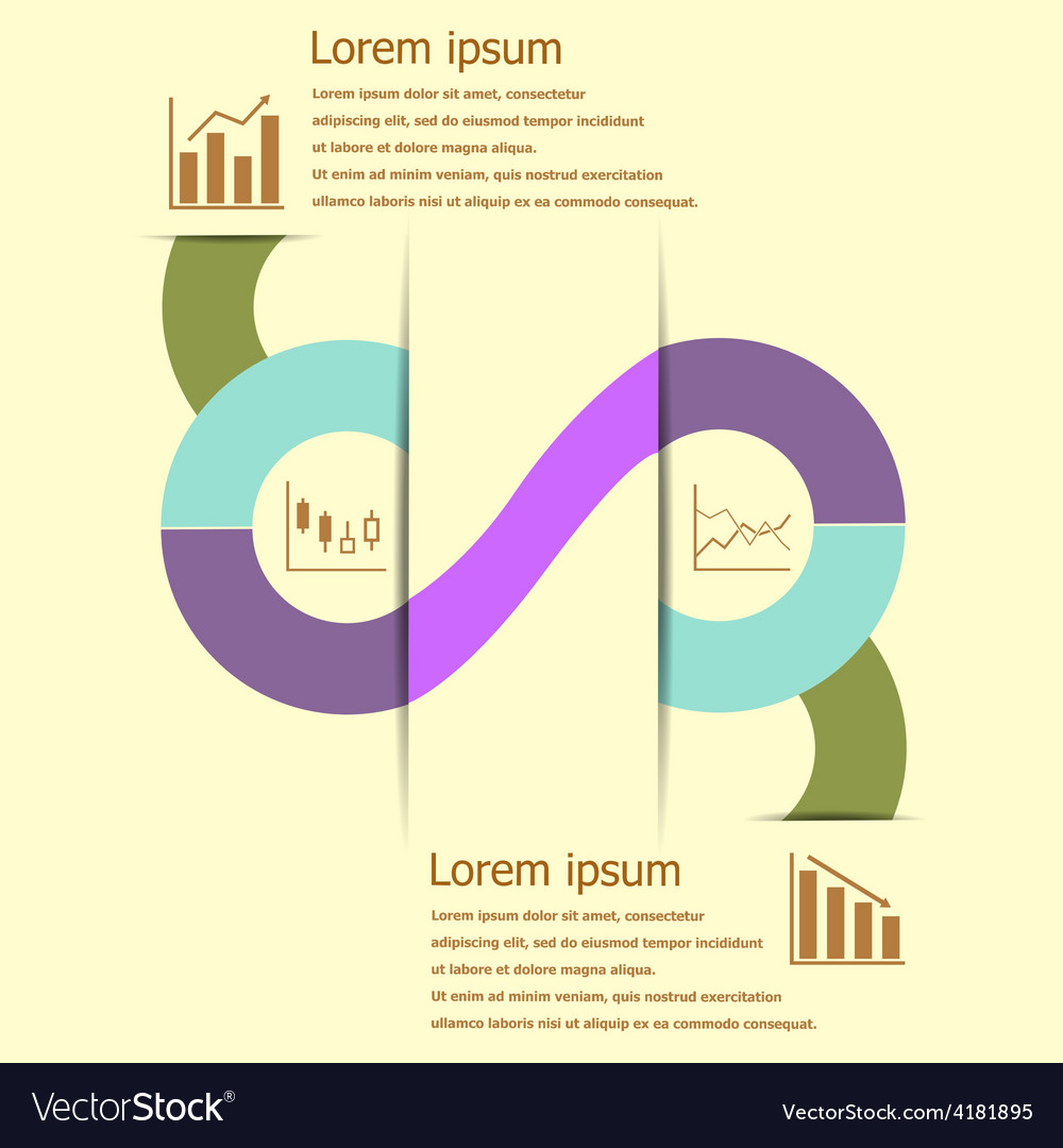 Stock and finance infographic design vector   Price: 1 Credit (USD $1)