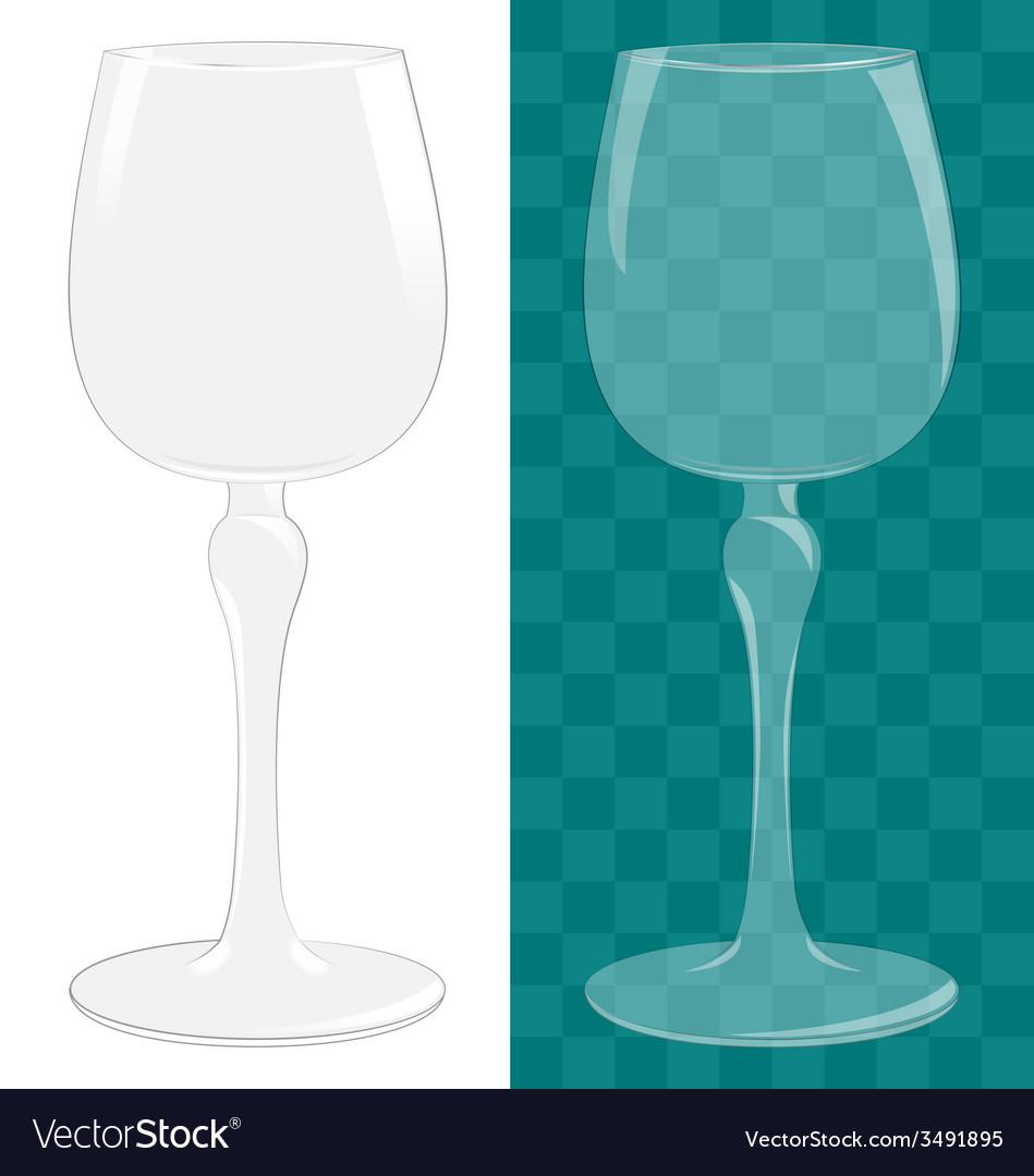 Transparent isolated wine glass vector | Price: 1 Credit (USD $1)