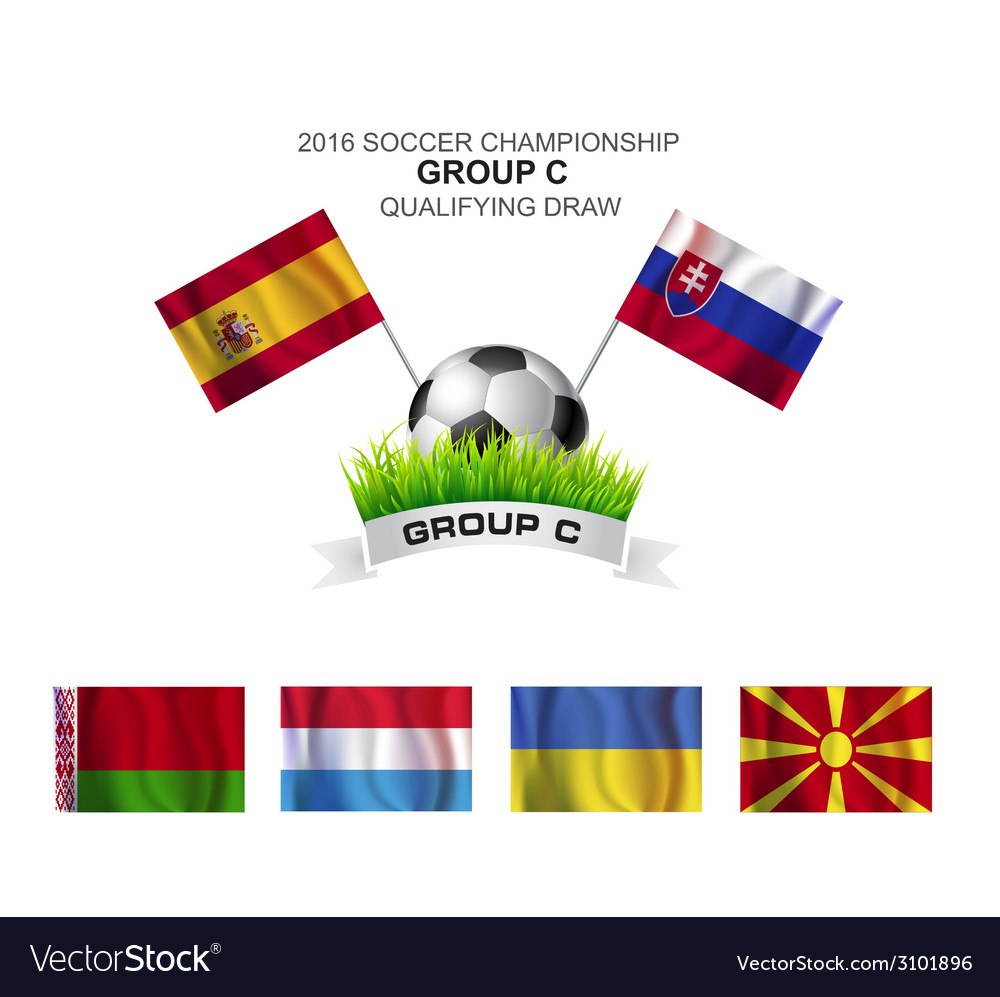 2016 soccer championship group c qualifying draw vector | Price: 1 Credit (USD $1)