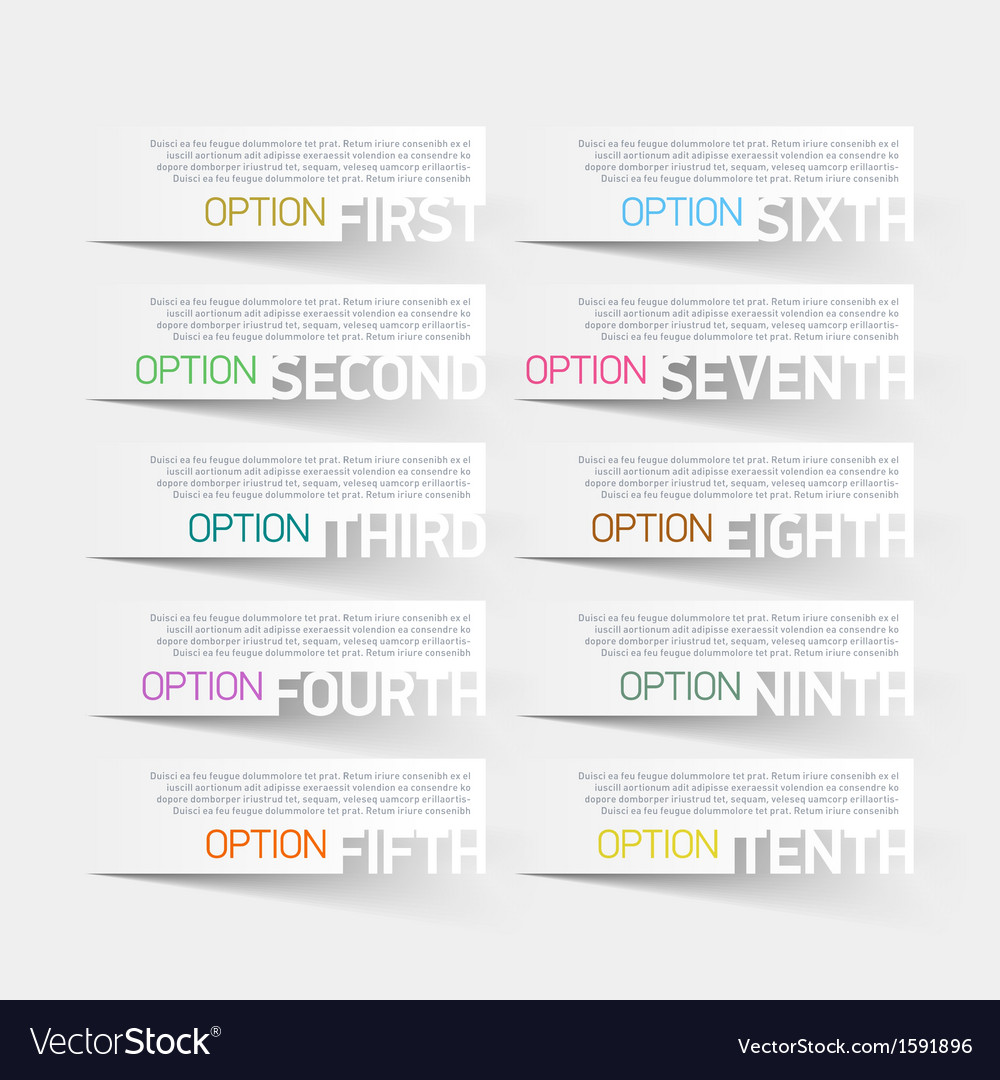Abstract infographics options design template vector | Price: 1 Credit (USD $1)