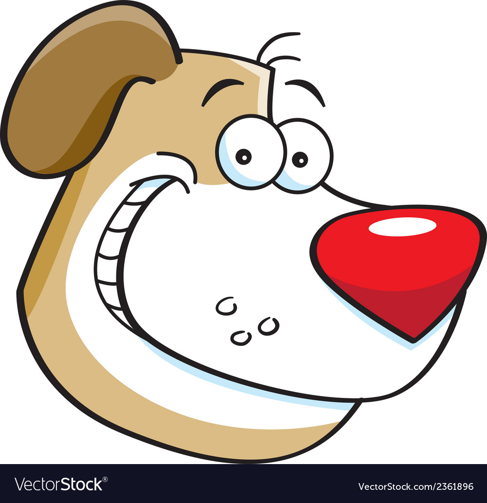 Cartoon dog head vector | Price: 1 Credit (USD $1)
