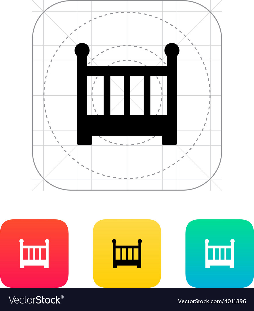 Crib icon vector | Price: 1 Credit (USD $1)