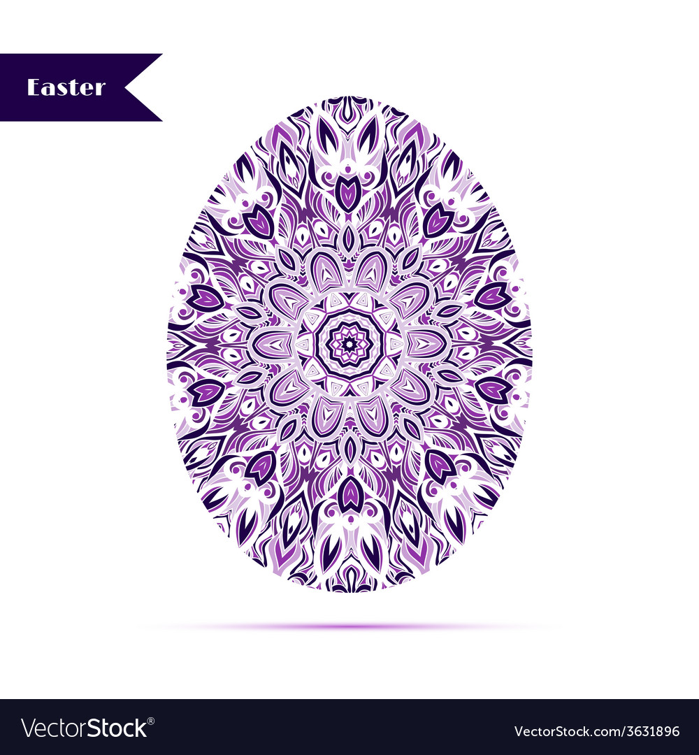 Easter egg background decorated with ornament vector | Price: 1 Credit (USD $1)