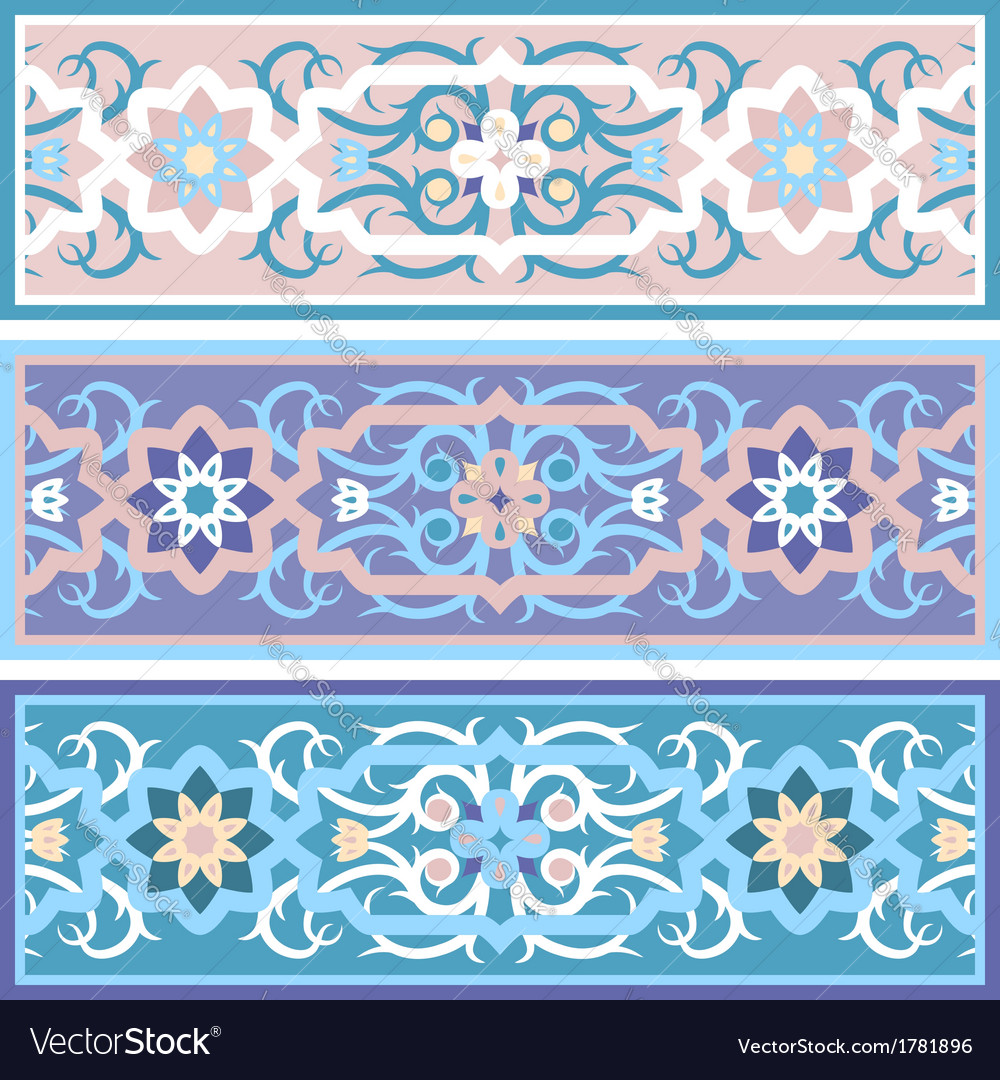 Muslim vintage floral ornament islimi vector | Price: 1 Credit (USD $1)