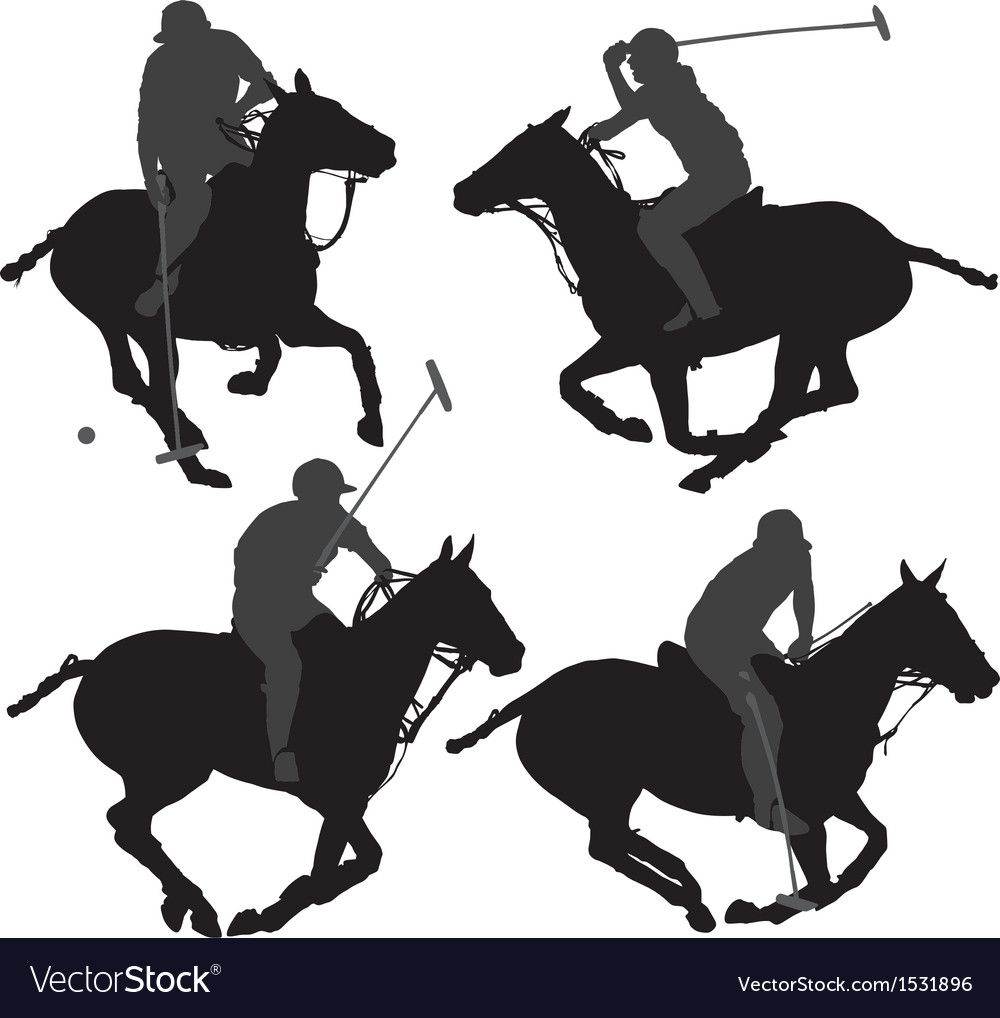 Polo player silhouette vector | Price: 1 Credit (USD $1)