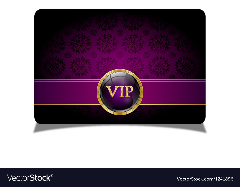 Purple vip card vector | Price: 1 Credit (USD $1)