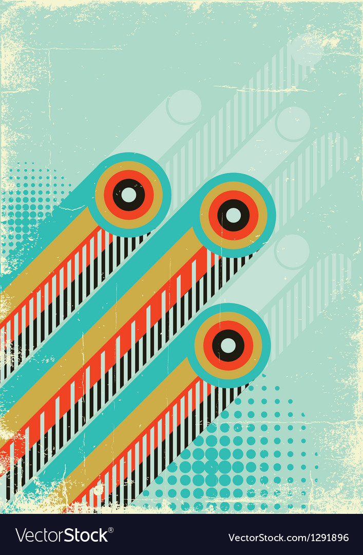 Retro abstract background for design on old paper vector | Price: 1 Credit (USD $1)