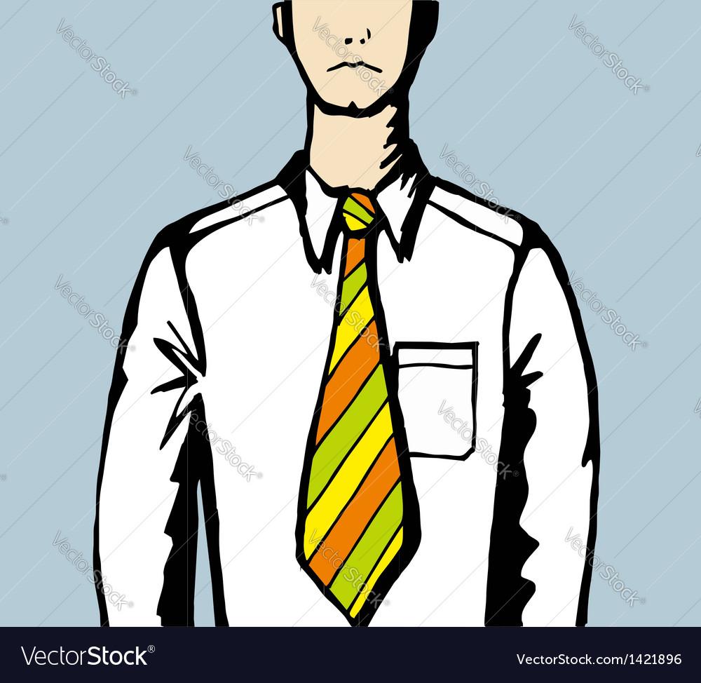 Sad business man with creative tie vector | Price: 1 Credit (USD $1)
