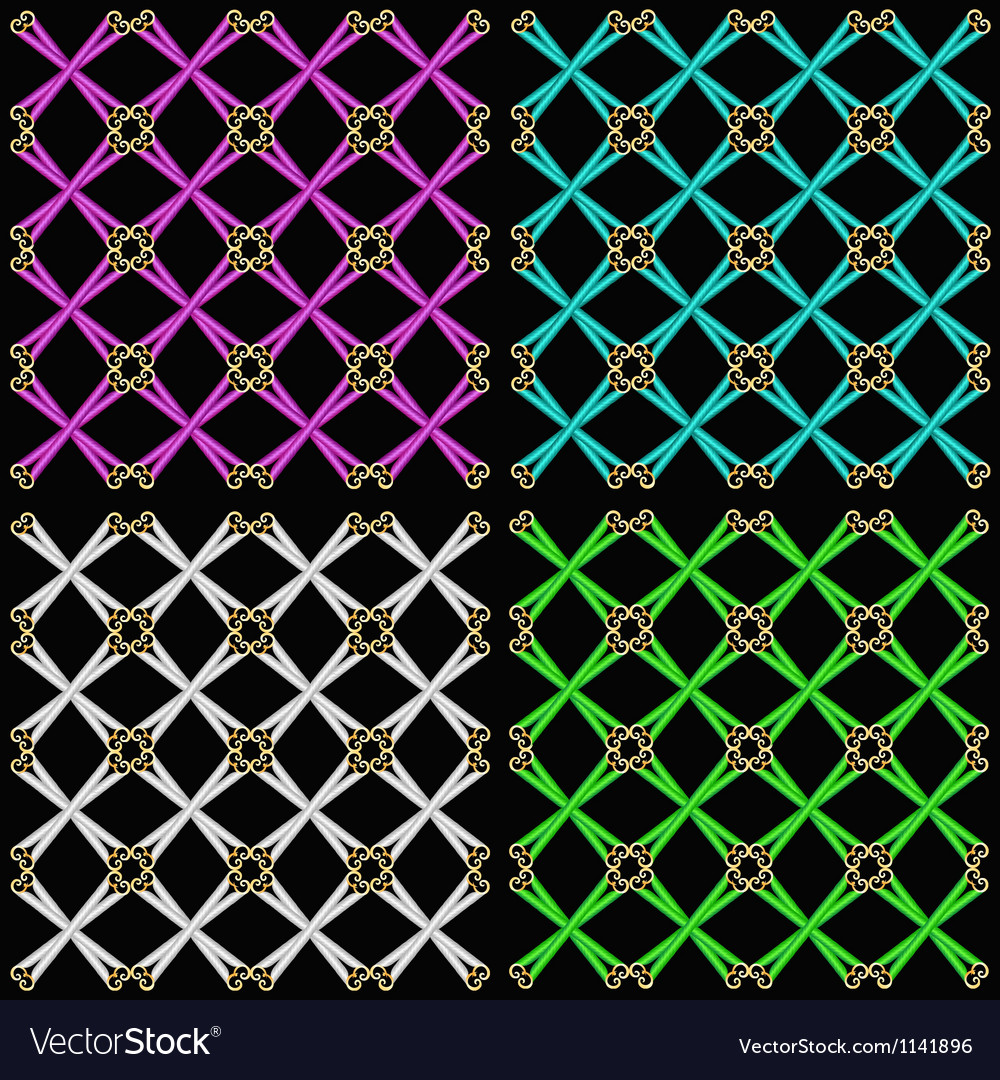 Set seamless patterns vector | Price: 1 Credit (USD $1)