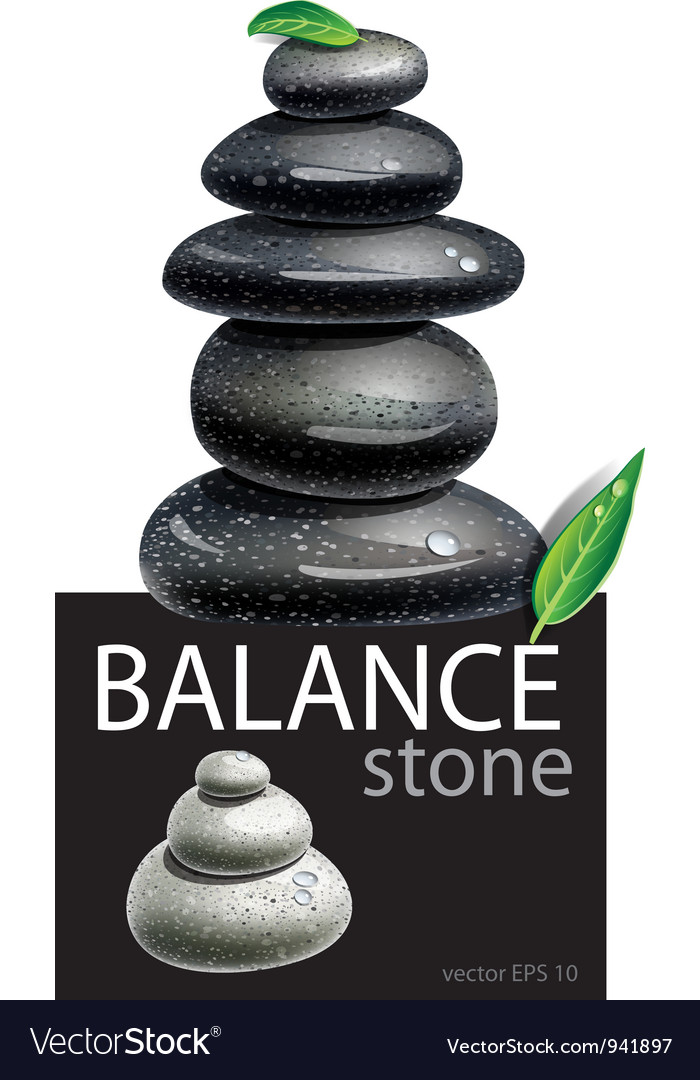 Balanced zen stones vector | Price: 3 Credit (USD $3)