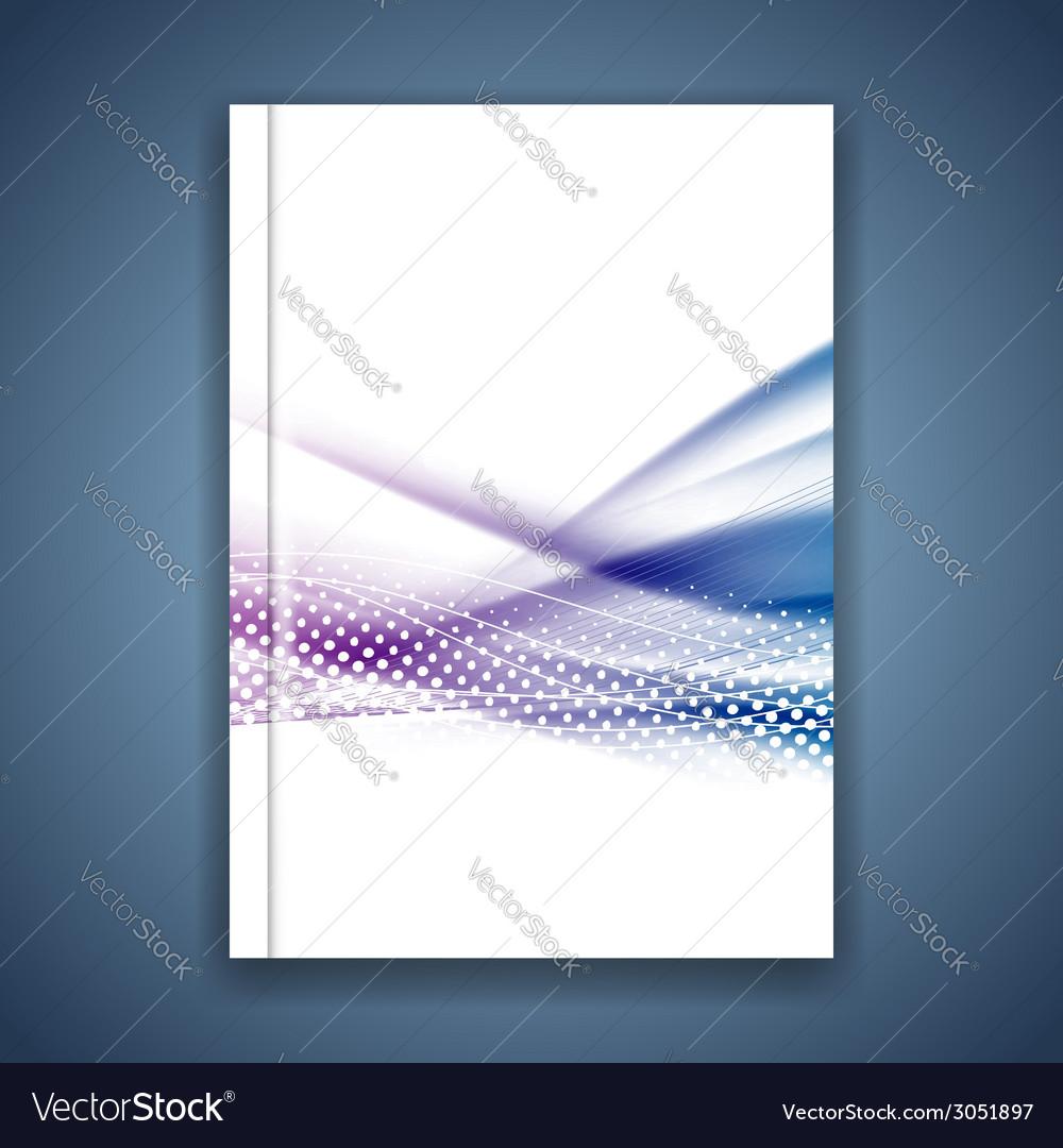 Blue swoosh wave satin line brochure template vector   Price: 1 Credit (USD $1)