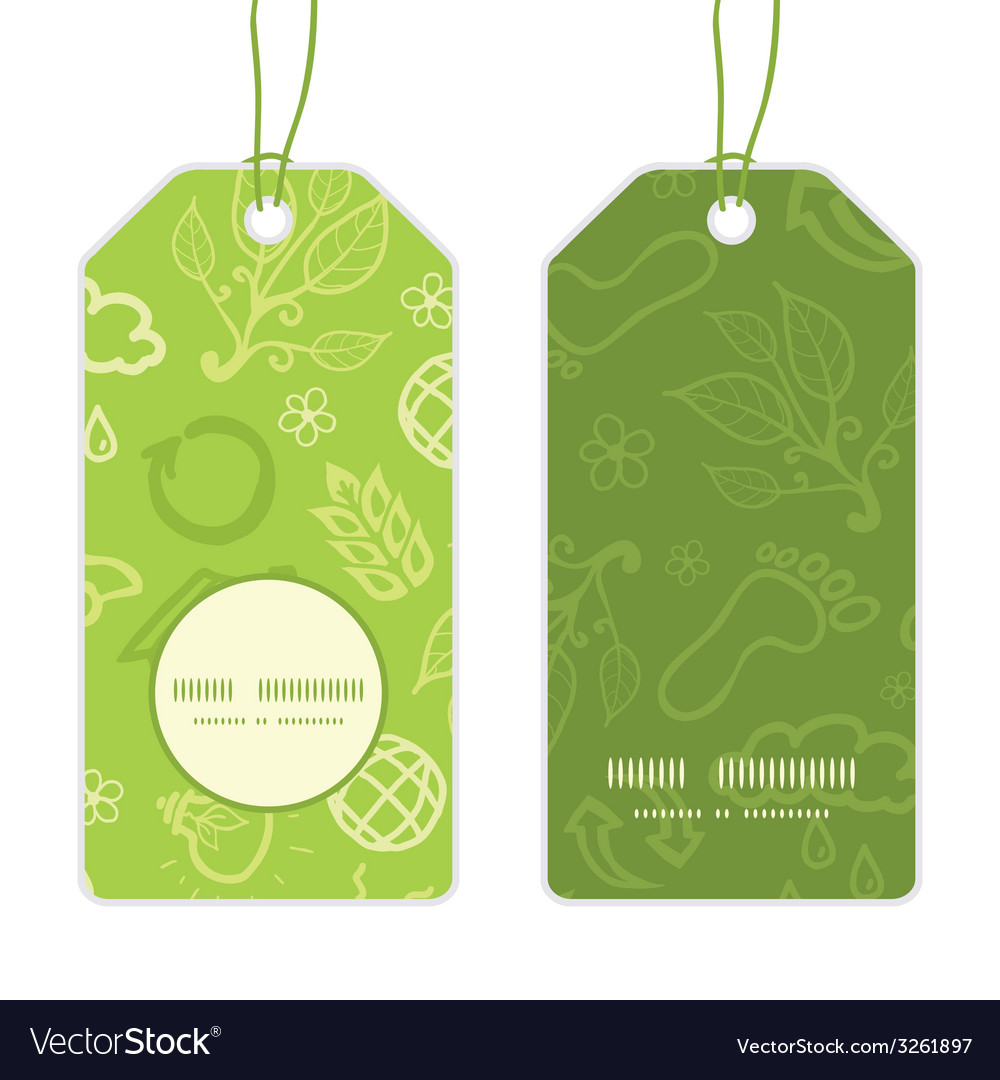 Environmental vertical round frame pattern tags vector   Price: 1 Credit (USD $1)