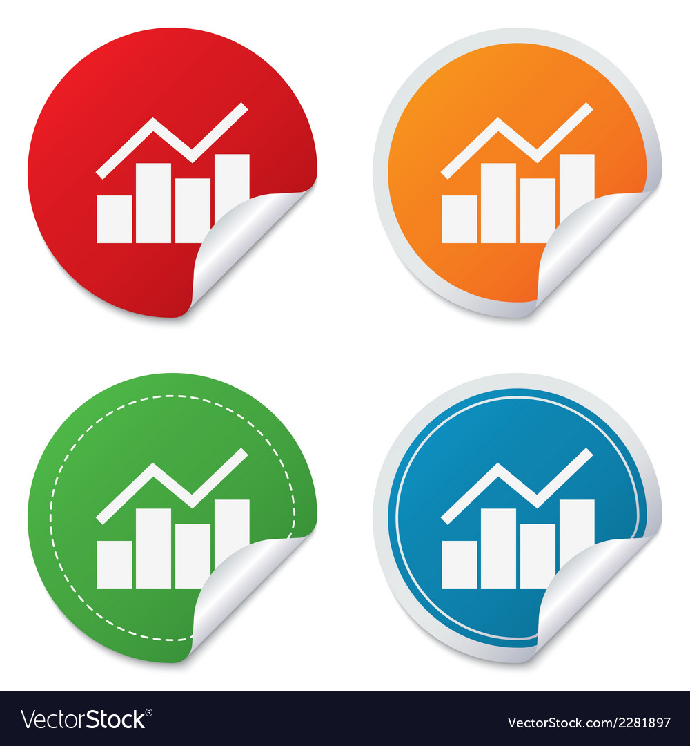 Graph chart sign icon diagram symbol vector | Price: 1 Credit (USD $1)